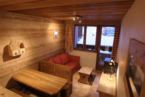 Location au ski Appartement 3 pièces 4 personnes - Résidence les Edelweiss - Champagny-en-Vanoise - Séjour