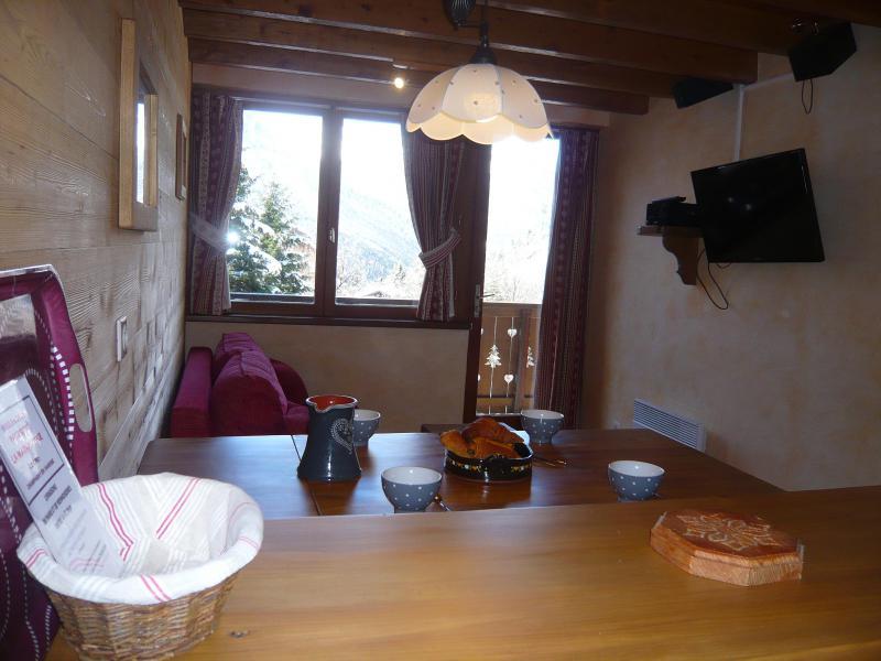 Location au ski Appartement 3 pièces 5 personnes - Résidence les Edelweiss - Champagny-en-Vanoise - Table