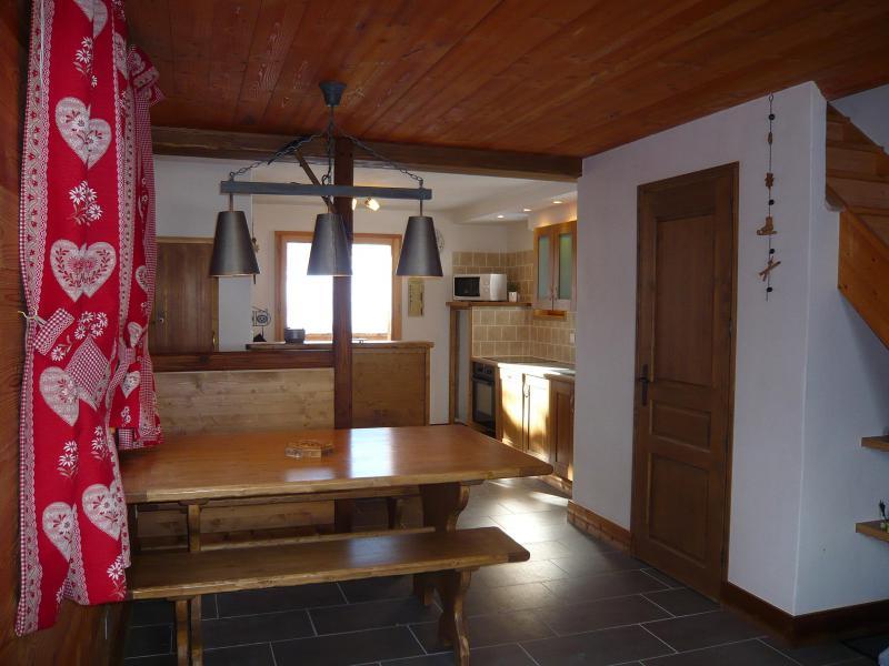 Location au ski Chalet 3 pièces 7 personnes - Résidence les Edelweiss - Champagny-en-Vanoise - Coin repas