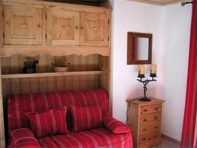 Location au ski Studio 2 personnes - Chalet Arkai - Champagny-en-Vanoise - Banquette-lit