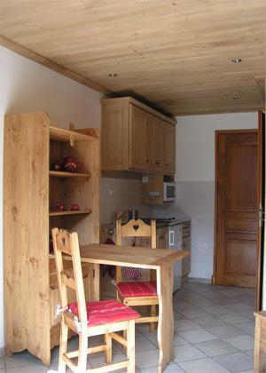Location au ski Studio 2 personnes - Chalet Arkai - Champagny-en-Vanoise - Coin repas