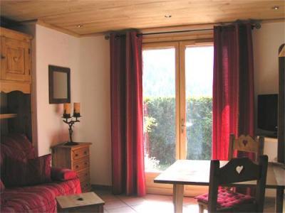 Location au ski Studio 2 personnes - Chalet Arkai - Champagny-en-Vanoise - Porte-fenêtre donnant sur balcon