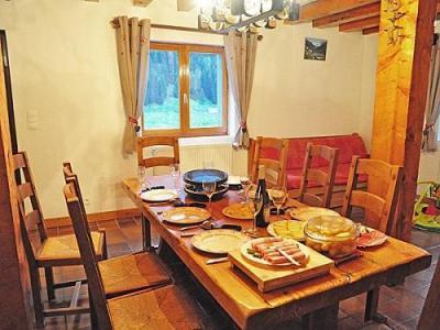 Location au ski Chalet Au Coeur De La Vanoise - Champagny-en-Vanoise - Coin repas