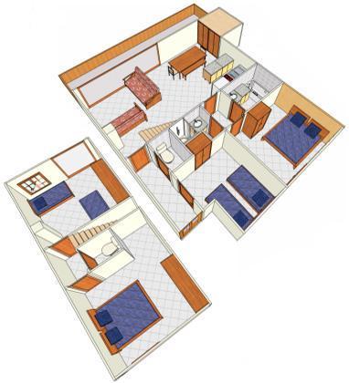 Location au ski Appartement duplex 5 pièces 10 personnes - Chalet Cristal - Champagny-en-Vanoise - Plan