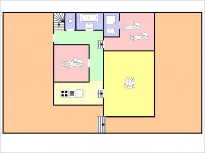 Location au ski Chalet duplex 7 pièces 12 personnes - Chalet De La Cote - Champagny-en-Vanoise - Plan