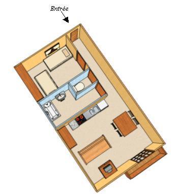 Location au ski Appartement 2 pièces 4 personnes - Chalet Estelann - Champagny-en-Vanoise - Plan