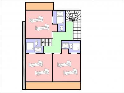 Location au ski Chalet quadriplex 5 pièces 8 personnes - Chalet Rosa Villosa - Champagny-en-Vanoise - Plan