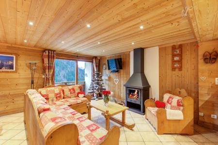 Location au ski Chalet Rosa Villosa - Champagny-en-Vanoise - Poêle à bois