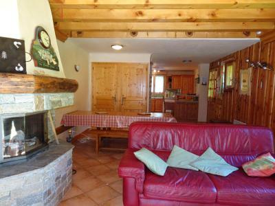 Rent in ski resort 6 room triplex apartment 12 people - Chalet Soldanelles - Champagny-en-Vanoise - Living room