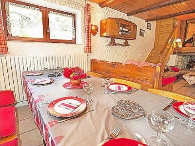 Location au ski Chalet Vieux Moulin - Champagny-en-Vanoise - Coin repas