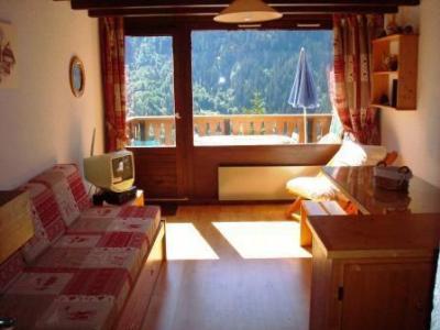 Location au ski Appartement duplex 3 pièces cabine 6 personnes (41-44) - Les Hauts De Planchamp - Champagny-en-Vanoise - Porte-fenêtre donnant sur balcon