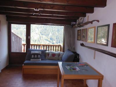 Rent in ski resort 3 room duplex apartment 6 people (D023CL) - Les Hauts de Planchamp - Campanule - Champagny-en-Vanoise - Living room