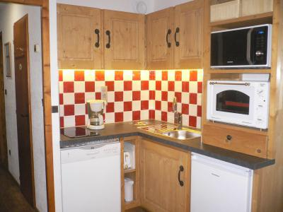 Rent in ski resort Studio sleeping corner 4 people (C001CL) - Les Hauts de Planchamp - Campanule - Champagny-en-Vanoise - Kitchenette