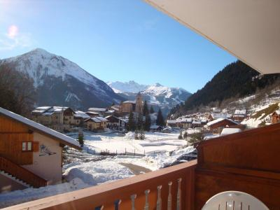 Rent in ski resort Studio sleeping corner 4 people (CAMPANUL) - Résidence Flor'Alpes - Champagny-en-Vanoise - Winter outside