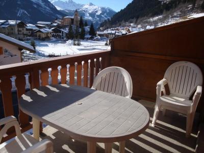 Rent in ski resort Studio sleeping corner 4 people (CAMPANUL) - Résidence Flor'Alpes - Champagny-en-Vanoise - Balcony