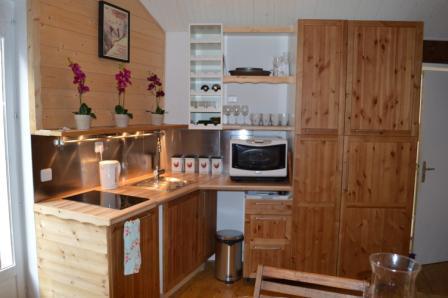 Location au ski Appartement 3 pièces mezzanine 6 personnes - Résidence le Dahu - Champagny-en-Vanoise - Kitchenette