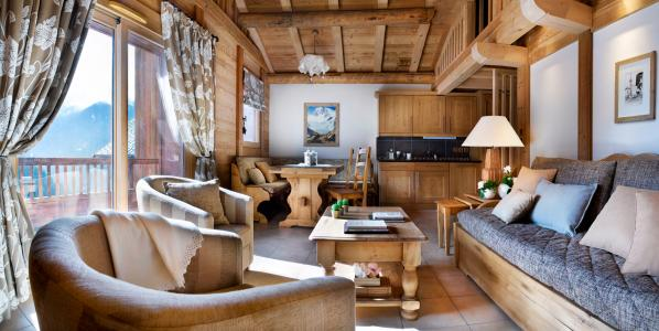 Rent in ski resort Résidence les Alpages de Champagny - Champagny-en-Vanoise - Living room