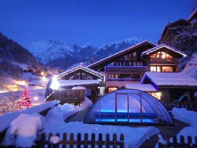 Vacances en montagne Résidence les Edelweiss - Champagny-en-Vanoise - Extérieur hiver
