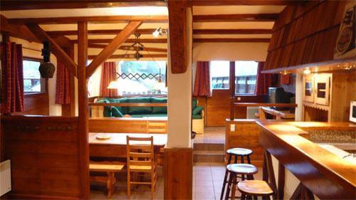 Location au ski Chalet mitoyen 3 pièces mezzanine 6-8 personnes - Residence Les Edelweiss - Champagny-en-Vanoise - Cuisine ouverte