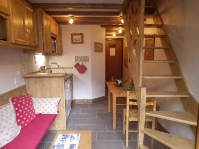 Rent in ski resort Studio 3 people (confort) - Résidence les Edelweiss - Champagny-en-Vanoise - Living room