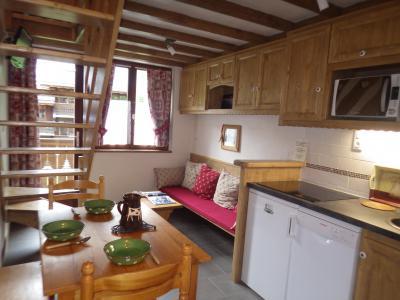 Rent in ski resort Studio 3 people (confort) - Résidence les Edelweiss - Champagny-en-Vanoise - Open-plan kitchen