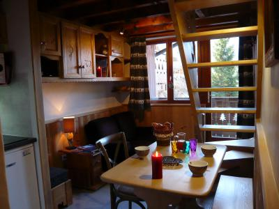 Rent in ski resort Studio 3 people (standard) - Résidence les Edelweiss - Champagny-en-Vanoise - Living room