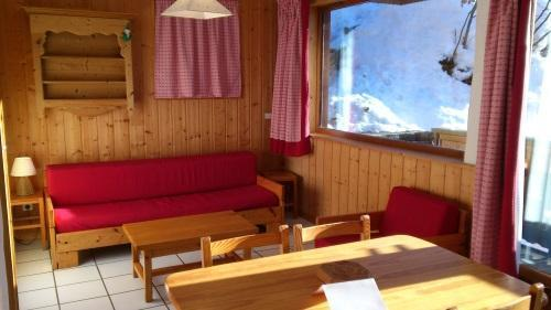 Rent in ski resort Studio 4 people - Résidence les Edelweiss - Champagny-en-Vanoise - Living room