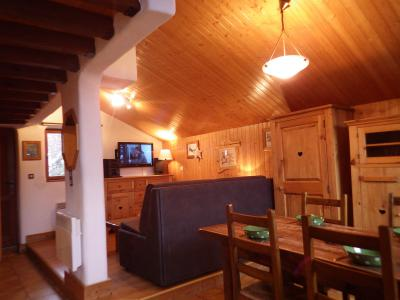 Rent in ski resort Studio mezzanine 4 people - Résidence les Edelweiss - Champagny-en-Vanoise - Living room