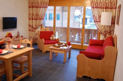 Location au ski Appartement 2 pièces 2-4 personnes - Residence Dents Blanches - Dents Du Midi - Champéry - Séjour