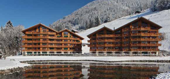 Vacances en montagne Résidence Dents Blanches - Dents du Midi - Champéry - Extérieur hiver