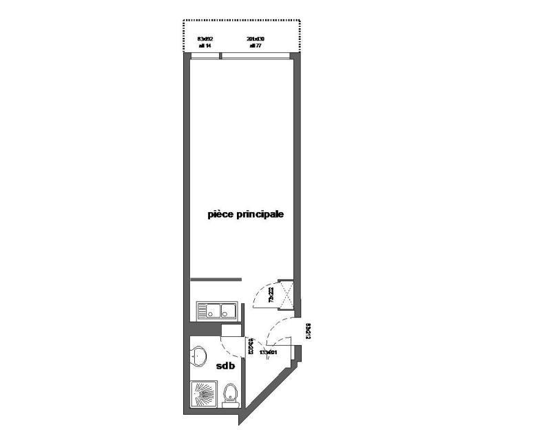 Аренда на лыжном курорте Квартира студия для 4 чел. (507) - Résidence l'Arselle - Chamrousse - план