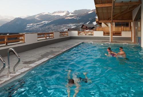 Location au ski Residence Le Grand Ermitage - Chatel - Piscine
