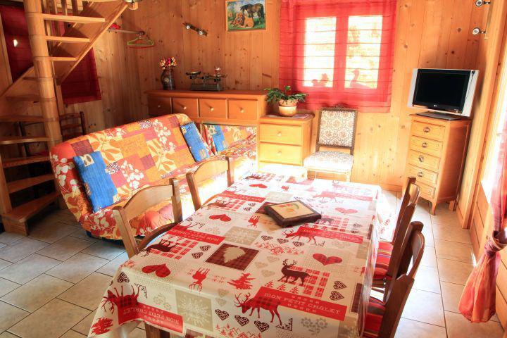 Rent in ski resort 2 room duplex chalet 5 people - Chalet la Fouine - Châtel - Living room