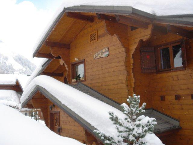 Wakacje w górach Apartament 3 pokojowy 6 osób - Chalet les Barbules - Châtel - Zima na zewnątrz
