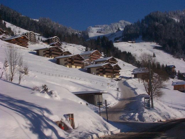 Wakacje w górach Le Hameau des Quatres Sais  - Châtel - Zima na zewnątrz