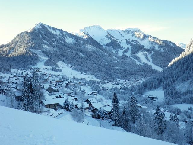 Wakacje w górach Studio 4 osoby (E88) - Le Hameau des Quatres Sais  - Châtel - Zima na zewnątrz