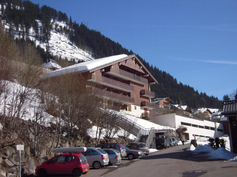Location au ski Résidence des Gentianes - Châtel - Extérieur hiver