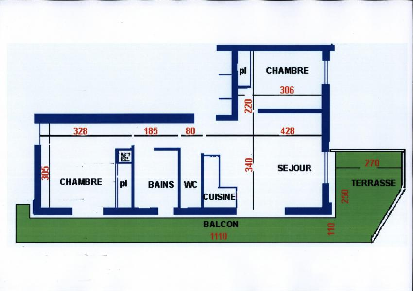 Rent in ski resort 3 room apartment 6 people (3) - Résidence Echo des Montagnes - Châtel - Plan