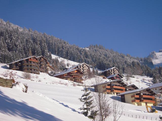 Location au ski Résidence l'Alpage - Châtel - Extérieur hiver