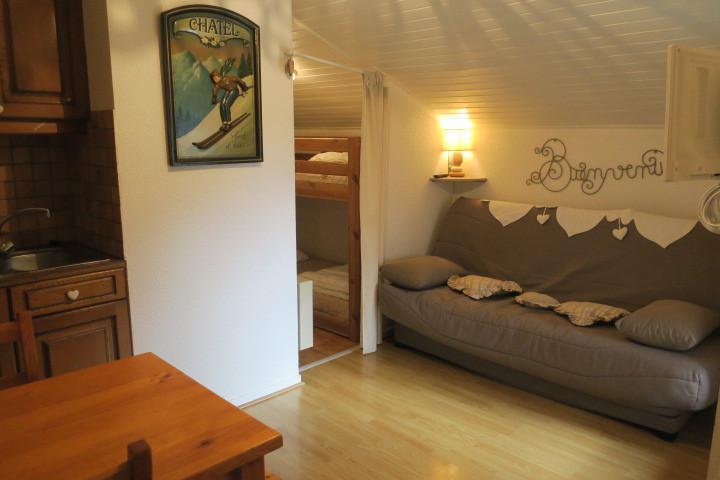 Location au ski Studio coin montagne 4 personnes (D9BIS) - Résidence l'Alpage - Châtel - Séjour