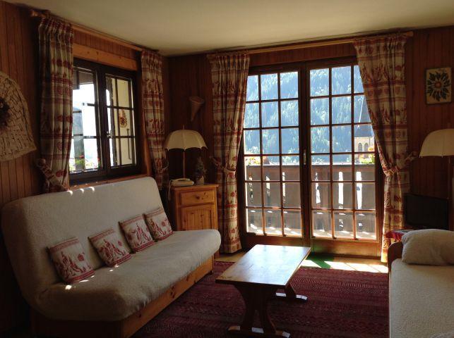 Rent in ski resort 2 room apartment 5 people (001) - Résidence le Caribou - Châtel - Living room