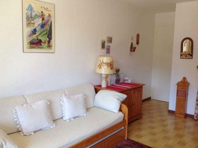 Location au ski Appartement 2 pièces 5 personnes (001) - Résidence le Caribou - Châtel - Canapé-gigogne