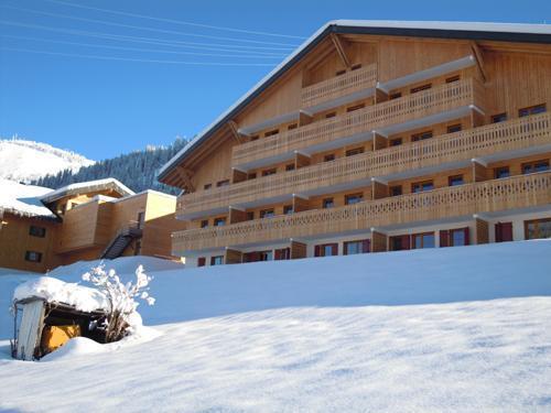Vacances en montagne Residence Le Grand Lodge - Chatel - Extérieur hiver