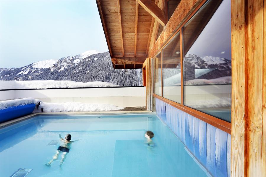 Vacances en montagne Résidence le Grand Lodge - Châtel - Extérieur hiver