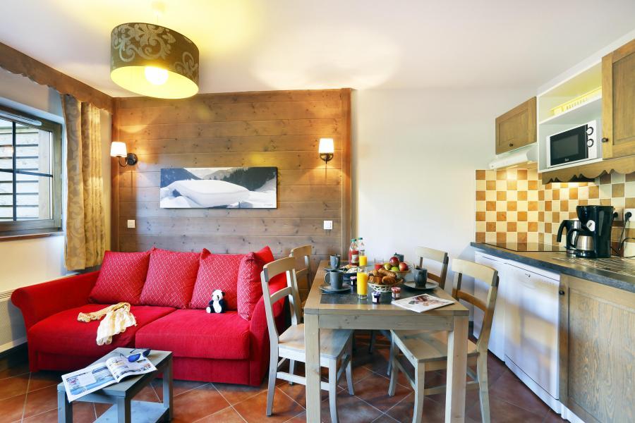 Location au ski Residence Le Grand Lodge - Châtel - Cuisine ouverte