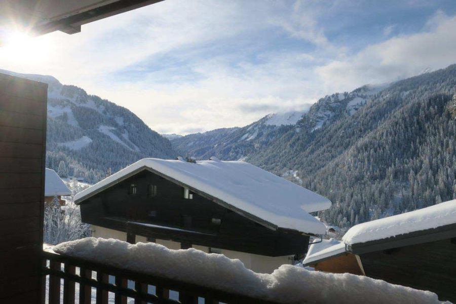 Vacances en montagne Appartement 2 pièces 4 personnes (JR9) - Résidence le Joran - Châtel - Extérieur hiver