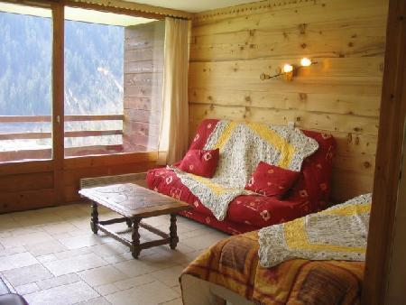 Ski verhuur Appartement 2 kamers 5 personen (A4) - Résidence le Val Pierre - Châtel - Woonkamer