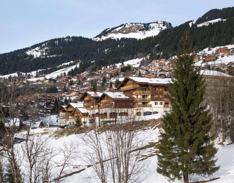 Location au ski Residence Les Chalets D'angele - Châtel - Extérieur hiver