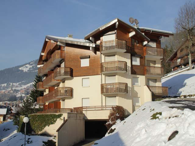 Vakantie in de bergen Résidence les Jonquilles - Châtel - Buiten winter