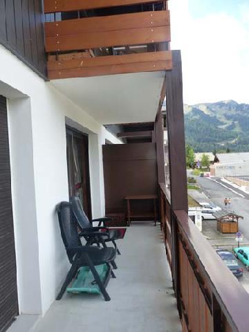 Ski verhuur Appartement 2 kamers 5 personen (2829) - Résidence les Snailles - Châtel - Balkon